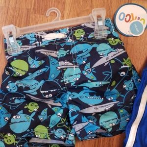356b670d6fa circo   kid connection Swim - Boys swim short sunglasses   tank shirt